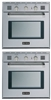 "Verona VEBIG24NSS 24"" 2 Single Gas Wall Oven Built in Stackable Stainless Steel"