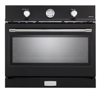 Verona Designer Series VEBIG30NE 30 Inch Built-In Single Gas Wall Oven with 3.5 cu ft Capacity Convection Infrared Broiler Matte Black