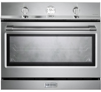 Verona Designer Series VEBIG30NSS 30 Inch Built-In Single Gas Wall Oven with 3.5 cu ft Capacity Convection Infrared Broiler Stainless Steel