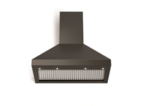 "Verona Designer Series VECHW36GE 36"" Chimney Wall Mount Range Hood LED Lighting Matte Black"