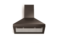 "Verona Designer Series VECHW36GGB 36"" Chimney Wall Mount Range Hood LED Lighting Gloss Black"