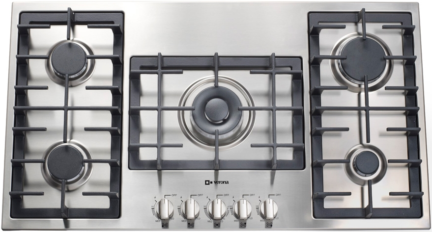Verona Designer Series Vectgm365ss 36 Gas Cooktop With 5 Sealed Burners