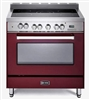 "Verona VEFSEE365BU 36"" Electric Range Convection Oven Burgundy"