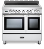 "Verona VEFSEE365DW 36"" Electric Double Oven Range Convection White"