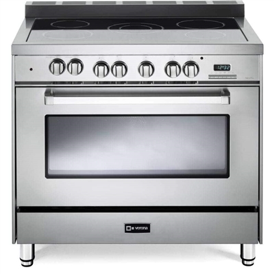 "Verona VEFSEE365SS 36"" Electric Range Convection Oven Stainless Steel"