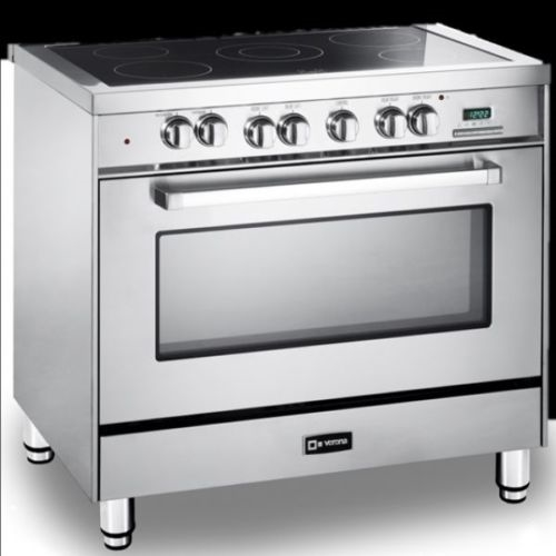 36 Electric Range >> Verona Vefsee365ss 36 Electric Range Oven Stainless Steel 2 Pc