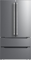 Verona VERF36CDSS 36 Inch Freestanding Counter Depth 4 Door French Door Refrigerator Stainless Steel