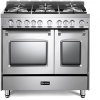 "Verona Prestige Series VPFSGG365DSS 36"" All Gas 5 Burner Double Oven Range Convection Stainless Steel"