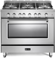 "Verona Prestige Series VPFSGG365SS 36"" All Gas 5 Burner Range Convection Oven Stainless Steel"