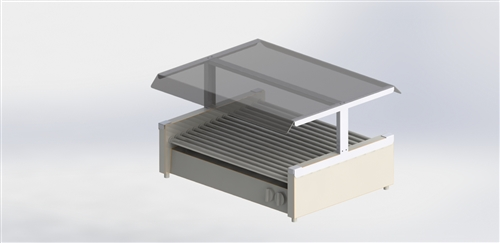 Econo Sneezeguard Canopy for 50 Size Grills