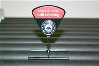 WIENER MINDER FLAVOR STAND with TIMER DIAL AND STILL COOKING DECAL