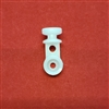 Friction Carrier, End Carrier, for Ripple Fold, White. R1001