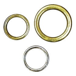 "Heavy Duty Drapery Ring, Brass, 1/2"" diameter.  For roman & natural shades"