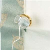 Clear Plastic Adjustable Cord Clip for 0.9mm string.