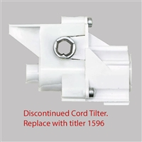 Replace with 1596. Discontinued CORD Tilter, modified HEX hole. Low Profile. For Hunter Douglas Blinds. 5003873748