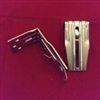 "Pack of 2. Installation Brackets 3.5"" with Clips for Vertical PVC. Plated Silver"