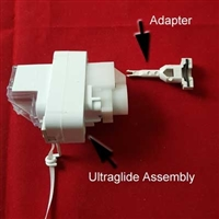 Ultraglide Assy for Hunter Douglas duette. Made BEFORE May 2009. White, Size: 3/8, 3/4, 1 1/4