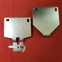 "KIT. Large Pair Roller Shade Brackets. 1 1/2"" Projection.  White"