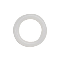"Drapery Ring, White Plastic Bone, 5/8"" diameter.  For roman & natural shades. DRP200"