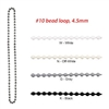 Plastic Bead Chain Loop, size #10. For Roman Shade, Roller Screen, RBC03P6W, FBC04P6W