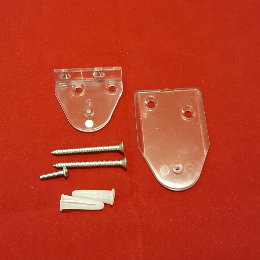 Kit 2 Cord Anchors Clear To Mount Cord Tensioner