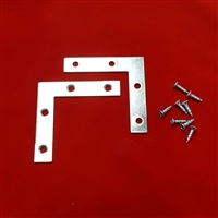 KIT. L Brackets & screws to reinforce loose shutter corners
