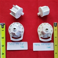 "SET: SHORT Clutch + End Plug + Brackets for Roller Screen Shade.  L, Fit 1.5"" tube OR 1.25"" tube"