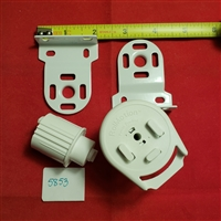 "Roll Motion SET: HOOK Mount Clutch ler + Brackets. Lift 12lbs. Fit 1.25"" tube."