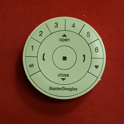 Remote Control v2. Round with CR2032 Batteries. Hunter Douglas Powerview. 7520000008. 7520000016