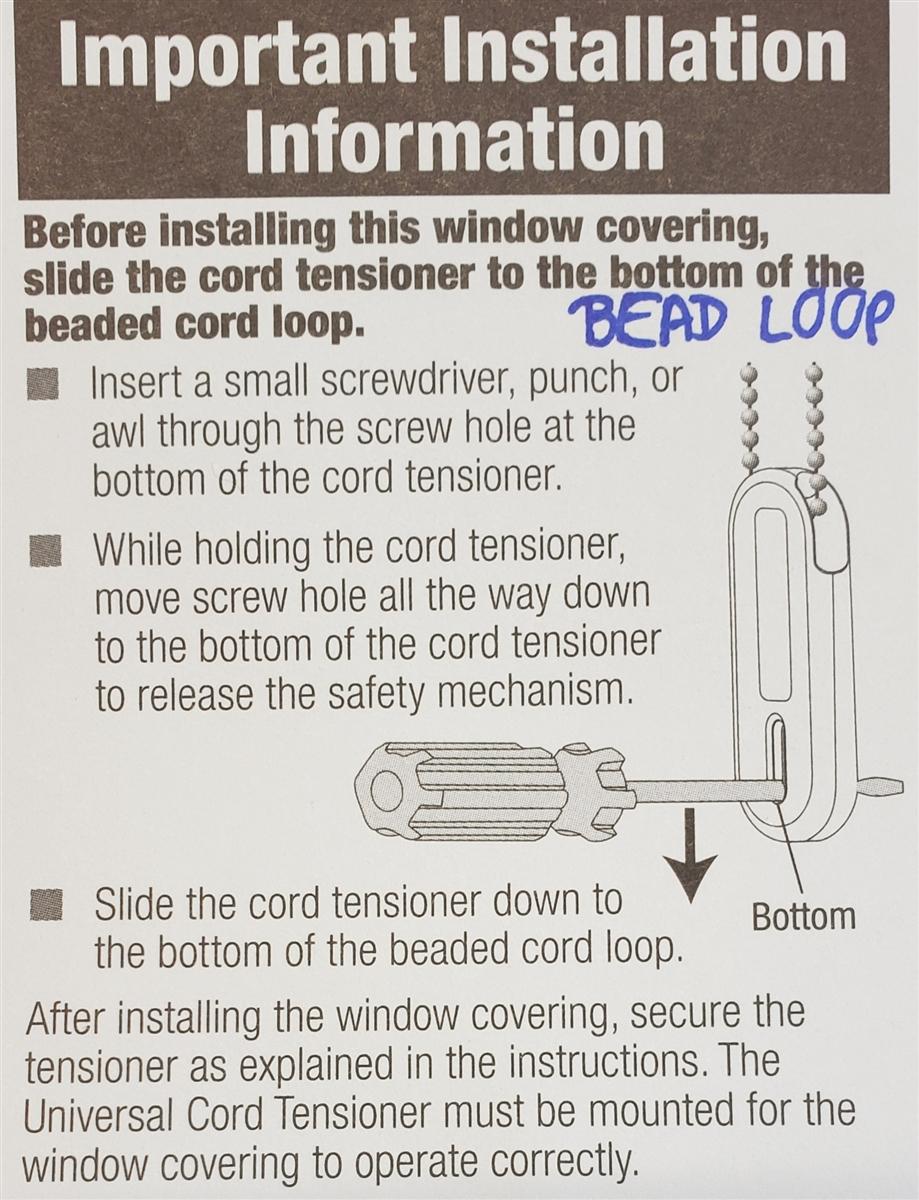 Tensioner For Bead Chain Loop 10 Hunter Douglas