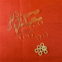KIT: 10 C-shaped Hinge Shim, and 10 Slim Shim Washer to tension Shutter
