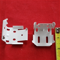 KIT. Installation brackets, pack of 2. Metal. White