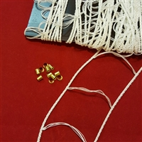 "KIT: Record LADDER string for 1 Wood Blind 2"".  20ft, 10 grommet."