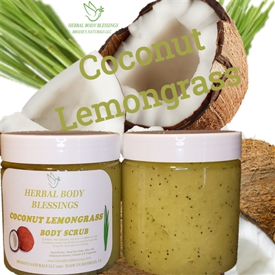 Coconut lemongrass body scrub