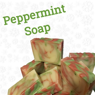 Christmas Peppermint handmade soap