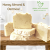 honey almond and oatmeal handmade soap