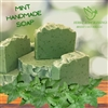 Mint handmade soap