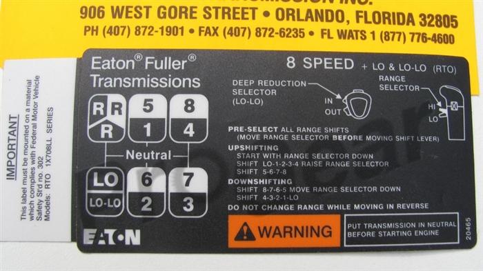 Eaton Auto shift manual