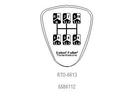 5586112 Eaton Fuller Shift Knob Medallion for RTO6613