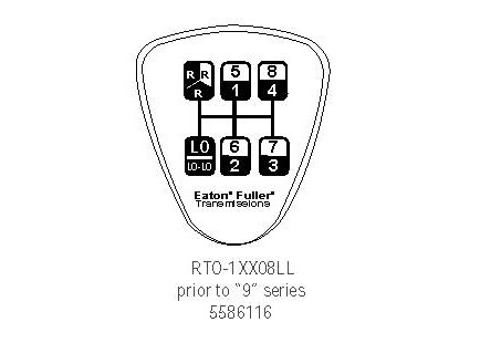 5586116 8 LL Speed Eaton Fuller Shift Knob Diagram. How to shift a ...