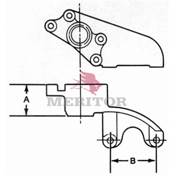 Rockwell Ay-Cam Bkt  P/N: A2-3299B4864 or A23299B4864 brake parts