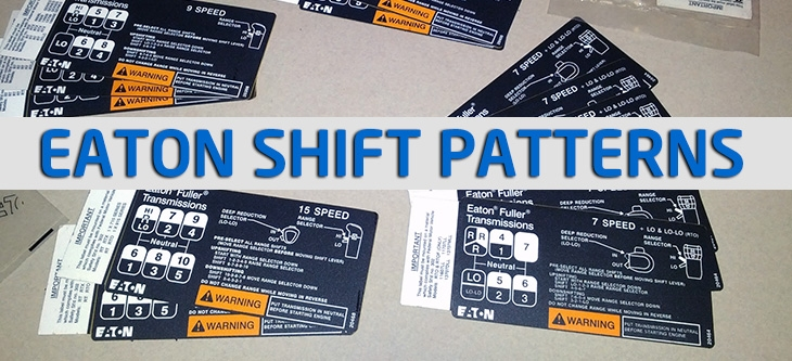 Eaton Fuller Transmission Shift Pattern Diagrams