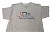0081XL Live Love Breathe Grey T-Shirt, XLarge (8coupons)