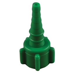0132EMG Swivel Oxygen Connector, Emerald Green, 50/Pkg