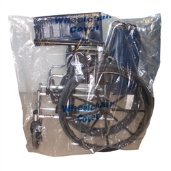 0134 Wheelchair Clear Cover, Standard Size, 50/Roll