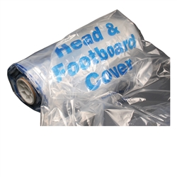0140 Head & Footboard Clear Cover, Invacare Size, 50/Roll