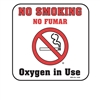 "2406 Small ""No Smoking"" Plastic Sign, 20/box"