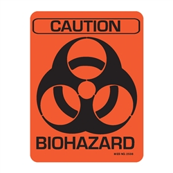 "2536 ""Biohazard Caution"" label, 50/roll"
