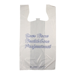 "4986 ""Your Home HealthCare Professional"" T-shirt Style Bag, 500/bx"