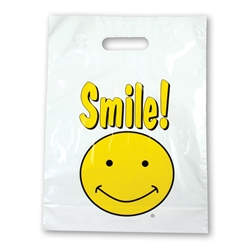 "4990 Small ""Smile!"" Patch Handle Bag, 500/bx"